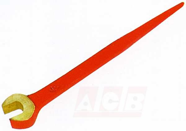 Contruction wrench with pin non sparking