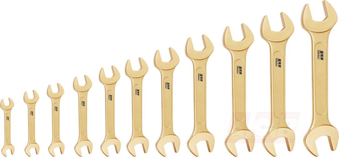 Double open end wrench - Set of 11 pieces non sparking