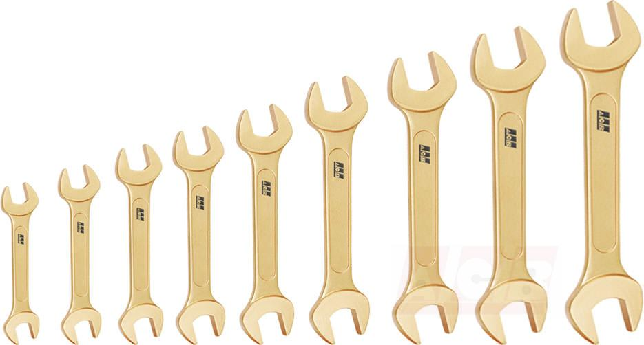 Double open end wrench - Set of 9 pieces non sparking