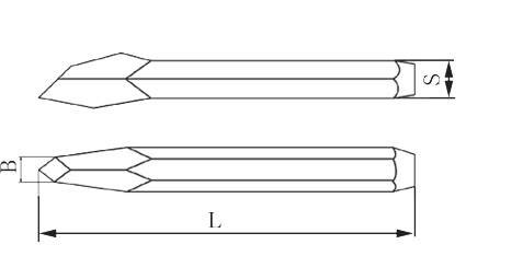 diagram chisel diamond point non sparking