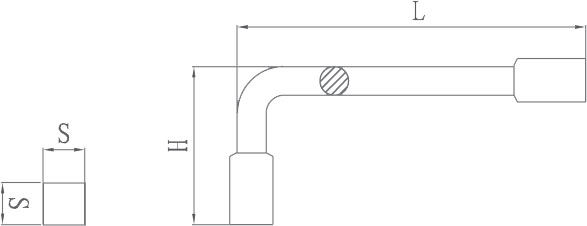 diagram square male wrench non sparking
