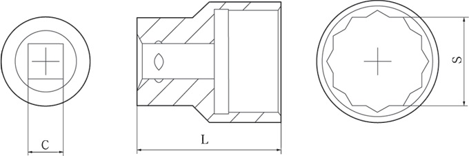 diagram 3/4 inch sockets non sparking