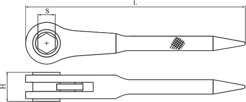 diagram ratchet handle non sparking